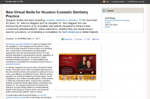 cosmetic, dentistry, dentist, dental, website, design, marketing, houston, TX