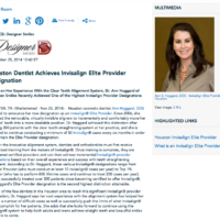 Ann Haggard DDS, Invisalign Elite Provider in Houston, Invisalign, what is Invisalign Elite Provider status?