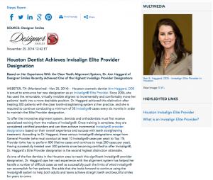 Ann Haggard DDS, Invisalign Elite Provider in Houston, Invisalign, what is Invisalign Elite Provider status?